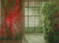 Mur végétal peint