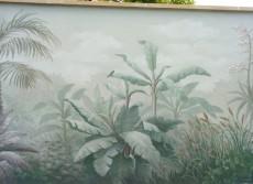 Décor mural extérieur - Mur végétal peint